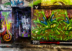 Hosier Lane Light Painting