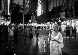 Street images of Melbourne during Christmas period 2015