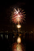 Fireworks at Royal Yacht Club, Williamstown, Victoria
